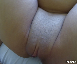 Shaved pussy of an Asian..
